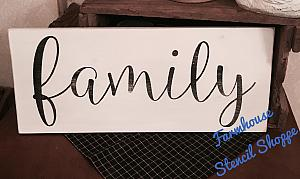 Family, large script