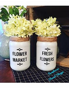 Flower Market/Fresh Flowers Set of 2 small stencils
